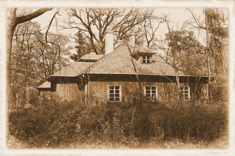Wilcza Wola - dwór, zdjęcie postarzone